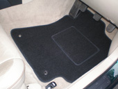 Contoured footwell carpet